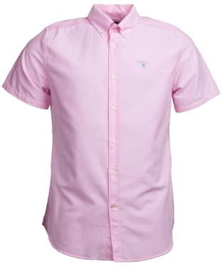Men's Barbour Oxford 3 Short Sleeved Tailored Shirt - Pink