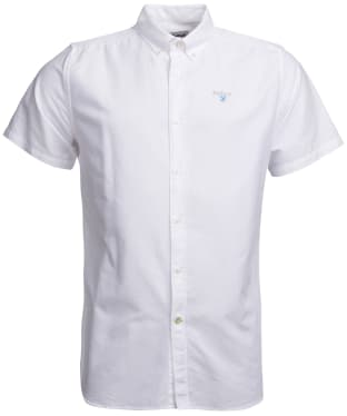Men's Barbour Oxford 3 Short Sleeved Tailored Shirt - White