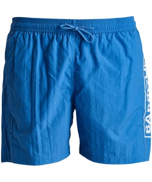 Men's Barbour International Large Logo Swim Shorts - Vivid Blue