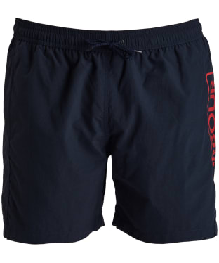 Men's Barbour International Large Logo Swim Shorts - New Navy
