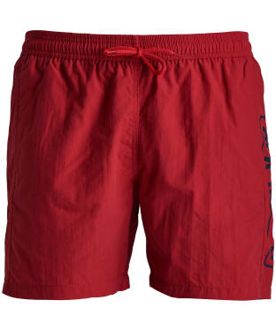Men's Barbour International Large Logo Swim Shorts - Vibrant Red