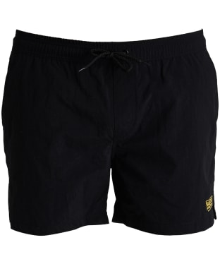 Men's Barbour International Logo Swim Shorts - Black