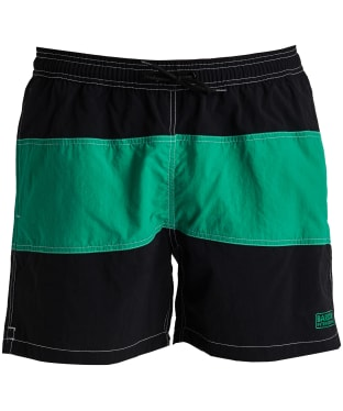 Men's Barbour International Block Swim Shorts - Black