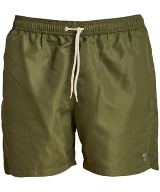 "Men's Barbour Logo 5"" Swim Shorts - Olive"