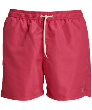 "Men's Barbour Logo 5"" Swim Shorts - Pink"