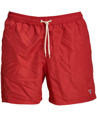 "Men's Barbour Logo 5"" Swim Shorts - Red"