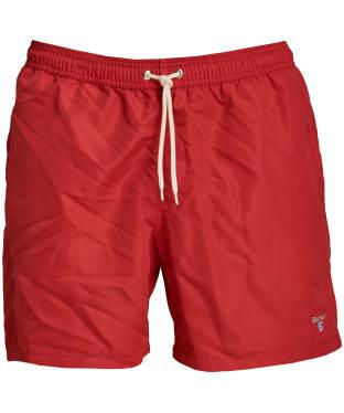 "Men's Barbour Logo 5"" Swim Shorts - Red"