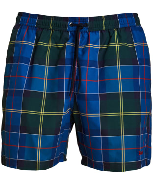 Men's Barbour Tartan Swim Shorts - Blue