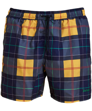 Men's Barbour Tartan Swim Shorts - Yellow