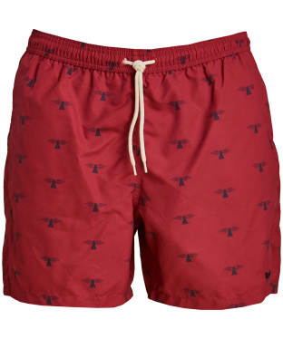 Men's Barbour Coastal Swim Shorts - Rich Red