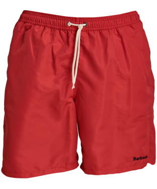 "Men's Barbour Logo 7"" Swim Shorts - Red"