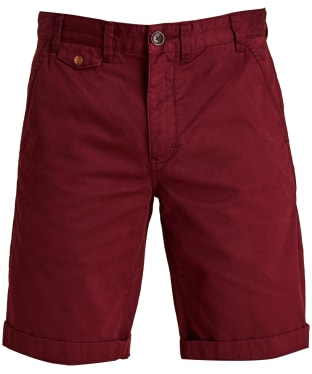 Men's Barbour Neuston Twill Shorts - Dark Raspberry
