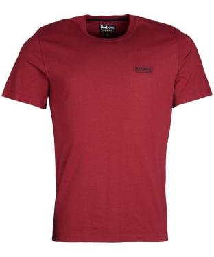 Men's Barbour International Small Logo Tee - Biking Red