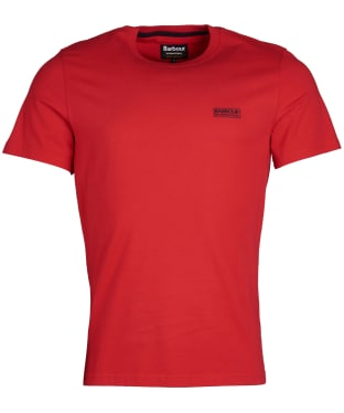 Men's Barbour International Small Logo Tee - Vibrant Red