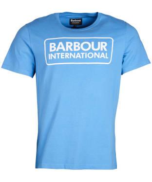 Men's Barbour International Essential Large Logo Tee - Vivid Blue