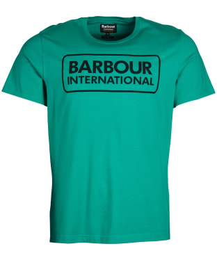 Men's Barbour International Essential Large Logo Tee - Zest Green