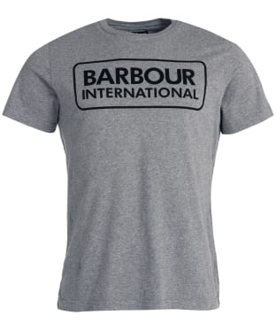 Men's Barbour International Essential Large Logo Tee - Anthracite
