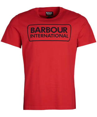 Men's Barbour International Essential Large Logo Tee - Vibrant Red