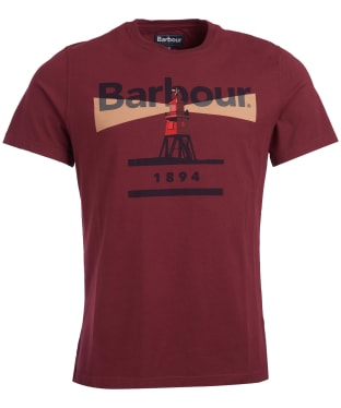 Men's Barbour Beacon 94 Tee - Ruby