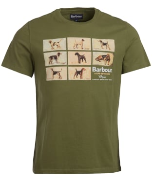 Men's Barbour Pedigree Tee - Burnt Olive