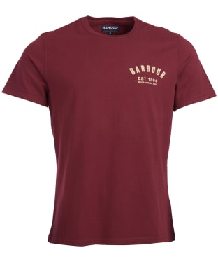 Men's Barbour Preppy Tee - Ruby