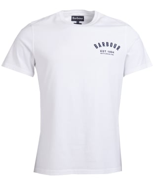 Men's Barbour Preppy Tee - White