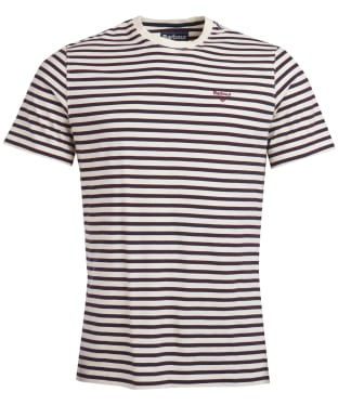 Men's Barbour Crane Stripe Tee - Ruby