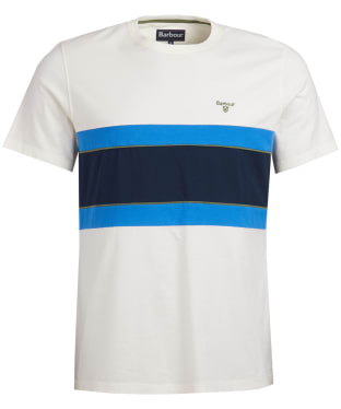 Men's Barbour Bay Panel Tee - White
