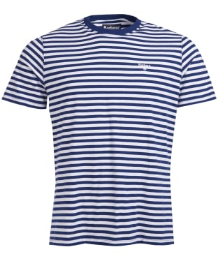 Men's Barbour Delamere Stripe Tee - Inky Blue