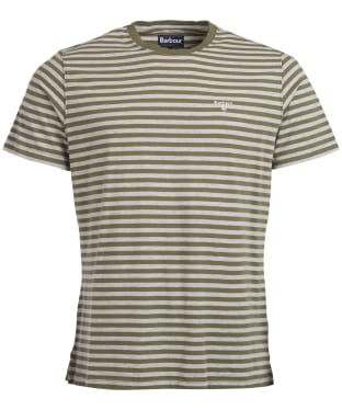 Men's Barbour Delamere Stripe Tee - Burnt Olive