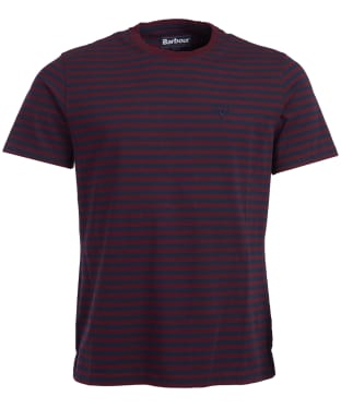 Men's Barbour Delamere Stripe Tee - Ruby