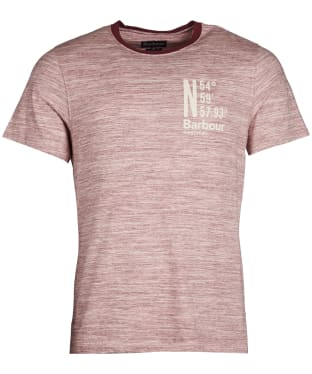Men's Barbour Location Tee - Ruby