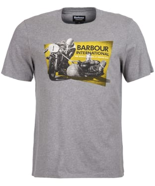 Men's Barbour International Archive Tee - Anthracite Marl