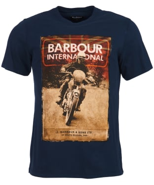 Men's Barbour International Archive Tee - Navy