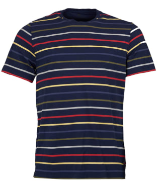 Men's Barbour Steve McQueen Radial Striped Tee - Dress Blue