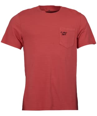 Men's Barbour Steve McQueen Vapour T-Shirt - Washed Red