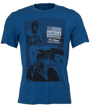 Men's Barbour Steve McQueen Jake T-Shirt - French Blue