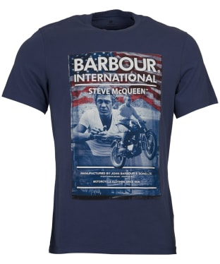 Men's Barbour Steve McQueen Hero Tee - Washed Indigo