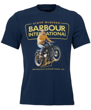 Men's Barbour Steve McQueen Cooler Tee - Dress Blue