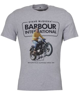 Men's Barbour Steve McQueen Cooler Tee - Grey Marl