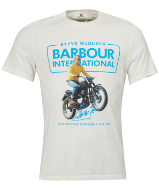 Men's Barbour Steve McQueen Cooler Tee - Whisper White