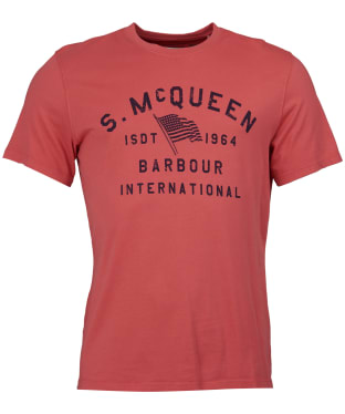 Men's Barbour Steve McQueen Boon Tee - Washed Red