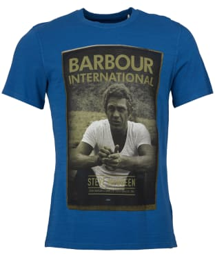 Men's Barbour Steve McQueen Relax Tee - French Blue