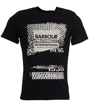 Men's Barbour International Distort Tee - Black