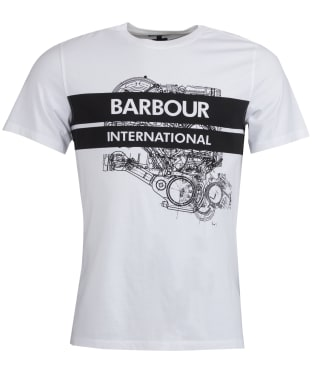Men's Barbour International Gauge Tee - White