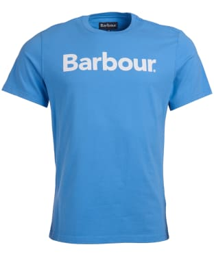 Men's Barbour Logo Tee - Delft Blue