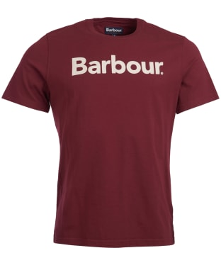 Men's Barbour Logo Tee - Ruby