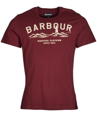 Men's Barbour Bressay Tee - Ruby