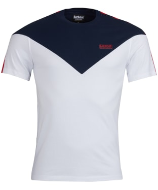 Men's Barbour International Chevron Tee - White