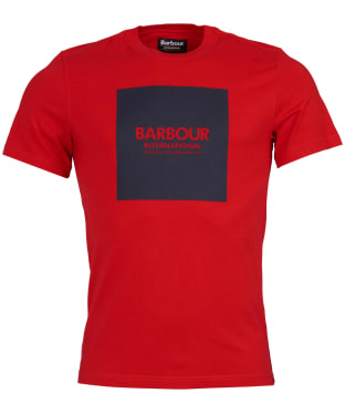 Men's Barbour International Block Tee - Red